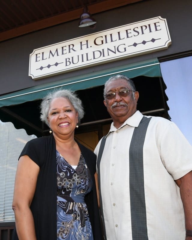 Pam Daniels, left, was the reason Elmer Gillespie became involved with the JAMA Food Pantry.