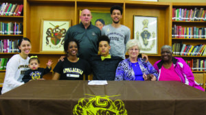 David Crockett senior Patrick Good signed with Appalachian State on Wednesday, April 13. He was joined by his sister, Johneshia, niece, Sadiee, mom, Tracy, grandmother, Patricia Scott, grandmother Mary Anderson, father John Good and brother C.J.