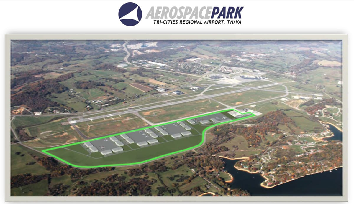 This is an artist rendering of what a 160-acre aerospace park would look like. The photo was included in the packet that was handed out during the August 3 meeting.