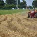 Paul Armentrout cuts hay in his field on Bob Shanks Road.