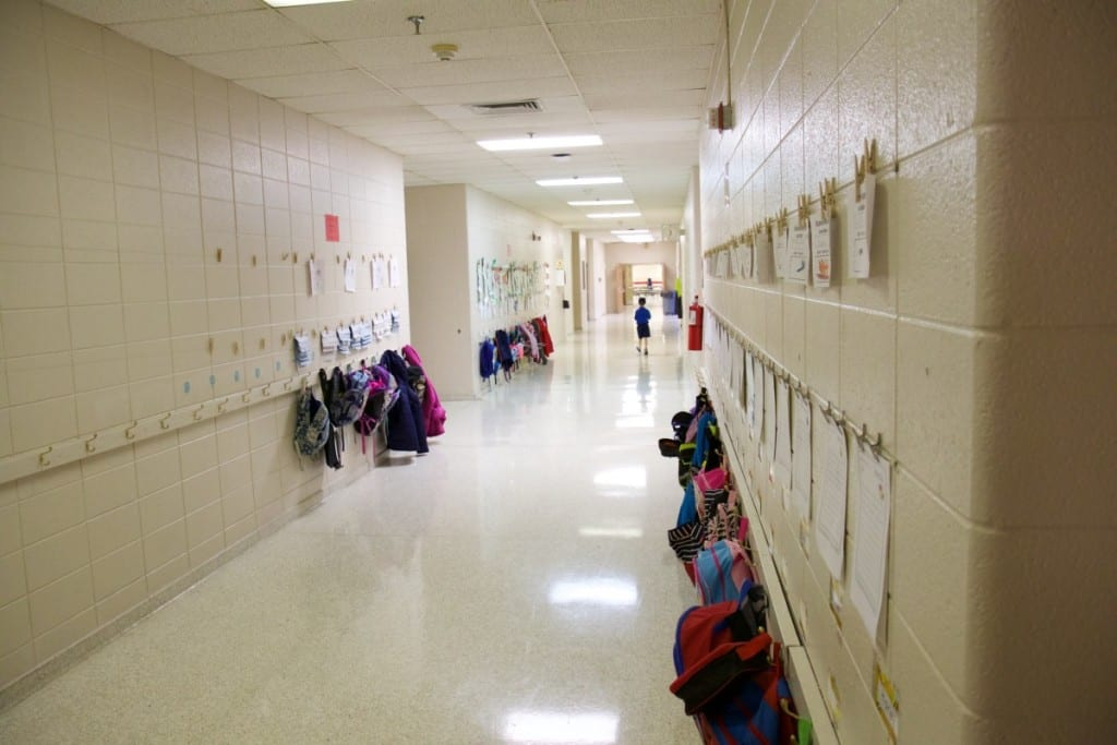 This is the 1982 addition where kindergarten and second grade are located.