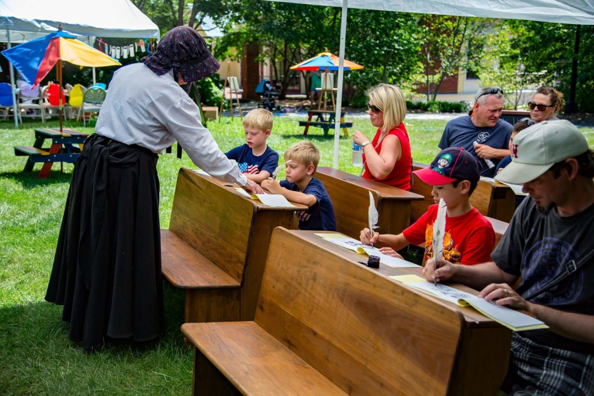 Jonesborough Days visitors got a chance to experience some of what children in 1893 went through during a school day if they stopped by the Discovery Park during the Jonesborough Days Festival.