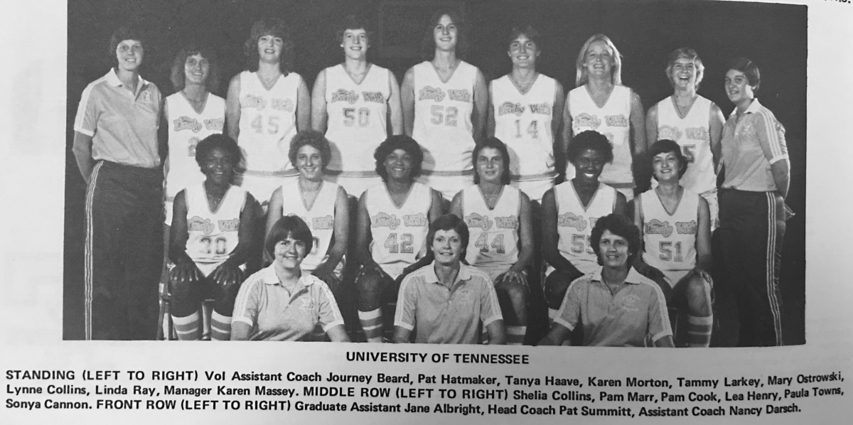 The team photo from Tammy Larkey Pearce's freshman season as a member of the Lady Vols.